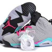 Hot Nike Air Jordan 6 Retro Women Shoes Miami Vice