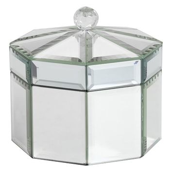 Mirrored Octagon Jewelry Box