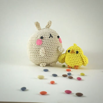 Mölang and piou piou amigurumi, MADE TO ORDER - Crochet Amigurumi - Kawaii amigurumi -child gift - kawaii crochet plush