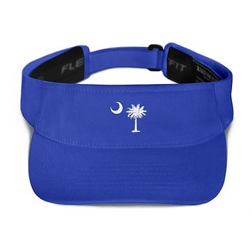 South Carolina Palmetto Moon Embroidered Visor
