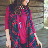 Fireside Vest in Navy and Red