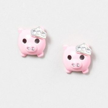 Royal Pig Stud Earrings | Claire's