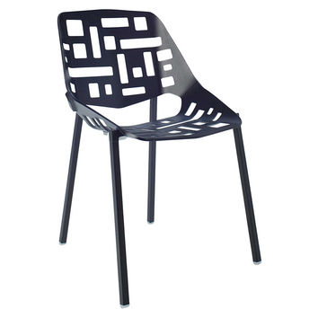Janus et Cie, Flores Side Chair, Black, Outdoor Dining Chairs