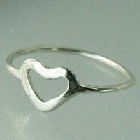 Heart Symbol Ring Sterling Silver of Love by ExCognito
