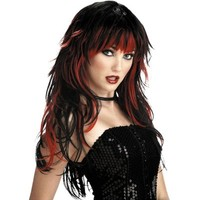 Temptress Red and Black Wig- Party City