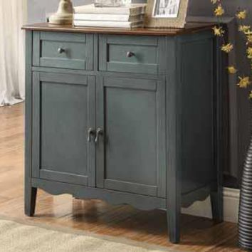 Hall Console Cabinet blue console table with drawers - thesecretconsul