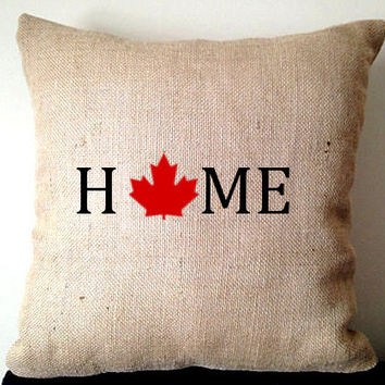 Unique Gifts for her, Home Decor, Burlap Pillow covers, Home Pillows, Rustic Decor