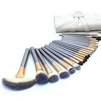 24PCs Professional Makeup Brushes Synthetic Kakubi Cosmetic Mac Makeup Brush Set