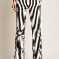 Pull-Ring Striped Pants