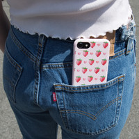 Hearts and Strawberries Phone Case - Accessories