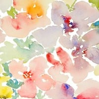 Watercolor Flowers, Spring 2013 Collection, No.1 - susan_magdangal - Spoonflower