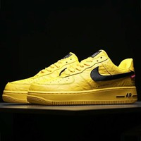 The North Face x Supreme x Nike Air Force 1 tripartite joint series sports shoes F-CSXY yellow