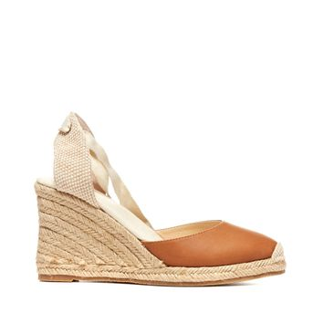 Soludos Tall Leather Wedge Espadrille Wedge
