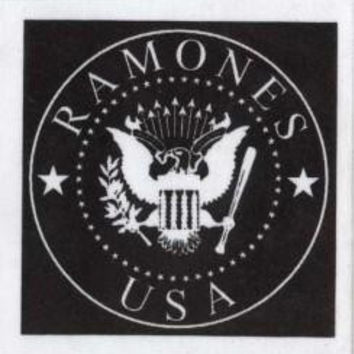 The Ramones Sew On Cloth Patch Square Eagle USA Logo