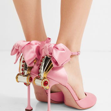 Miu Miu - Embellished satin pumps