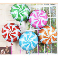 18 inch Lollipops Peppermint Candy Swirl Birthday Party Decoration Balloons SL