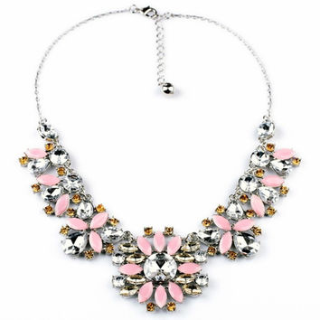 Blush Petals Statement Necklace