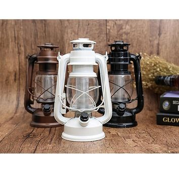LED Battery Light Vintage Oil Lamp Camping Tent