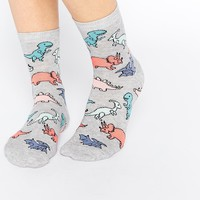 ASOS Ankle Socks With Dinosaur Design