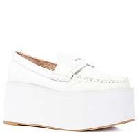 Jeffrey Campbell Shoe Calf Leather Weller in All White