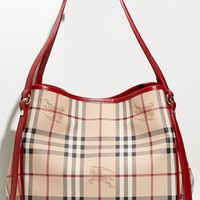 Women's Burberry 'Haymarket Check' Tote