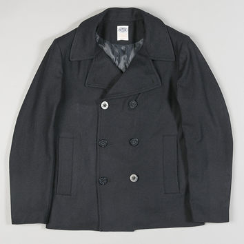 Armor-Lux Light Pea Coat Navy