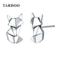 Tardoo Fox Shape Genuine 925 Sterling Silver Stud Earrings for Women Lovely & Classic Style Brand Fine Jewelry