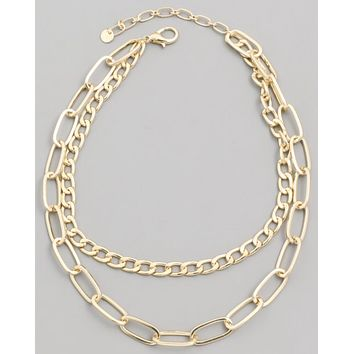 Double Trouble Chain Layer Necklace
