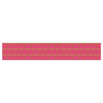 """Julie Hamilton """"Woven Red"""" Pink Table Runner"""