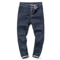 Men Slim Denim Pants Winter Cotton Men's Fashion Jeans [127701483549]