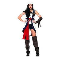 Leg Avenue Womens Assassin's Creed Connor Girl Halloween Party Costume Set
