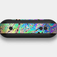The Neon Color Fushion with Black splatters Skin For the Beats Pill +