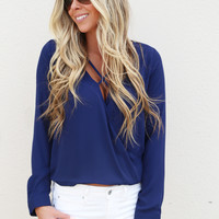Criss Cross Top {Navy}