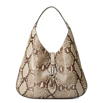 Gucci Jackie Python Leather Hobo Shoulder Bag 362968