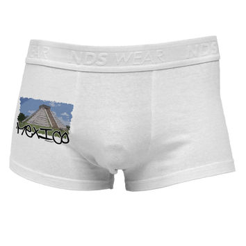 Mexico - Mayan Temple Cut-out Side Printed Mens Trunk Underwear