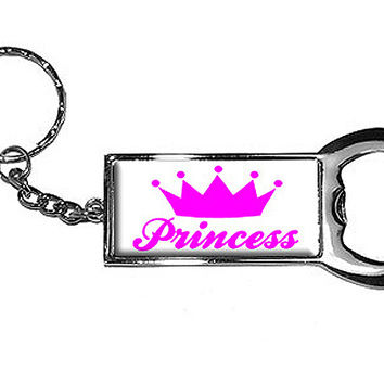 Princess Crown Bottle Opener Keychain