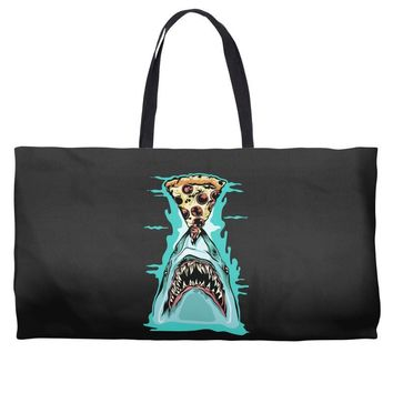 pizza shark graphic Weekender Totes