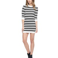 Pitch Black / Ange Stripe Sweater Dress by Juicy Couture,