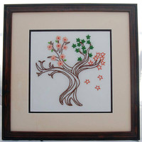 Tree of Life Embroidery Four Seasons Wall Decor