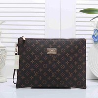 Louis Vuitton New Women Fashion Leather Zipper Wallet Purse