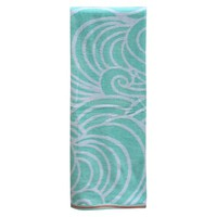 Xl Waves Beach Towel Mint - Evergreen