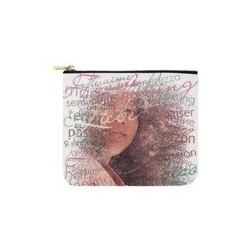 Levi Thang Half Face Vintage Letters Carry-All Pouch 6''x5''