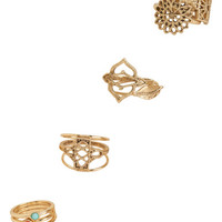 Boho Medallion Ring 10-Pack