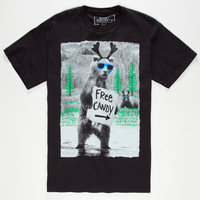 Riot Society Candy This Way Boys T-Shirt Black  In Sizes