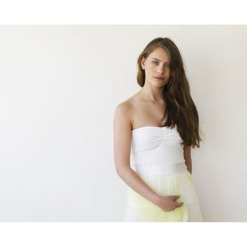 Ballerina Strapless Stretchy top (Ivory or Black)
