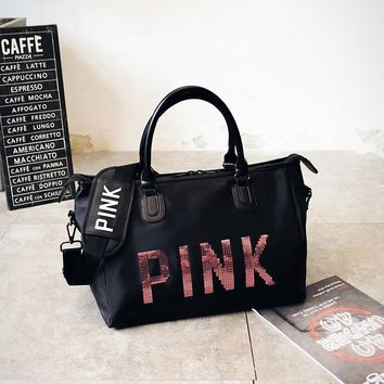"""'pink"""" Sports and fitness yoga travel bag"""