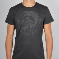 Diesel Mohawk Washed T-Shirt T-ACHELL - Black