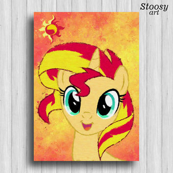 sunset shimmer my little pony print my little pony decor