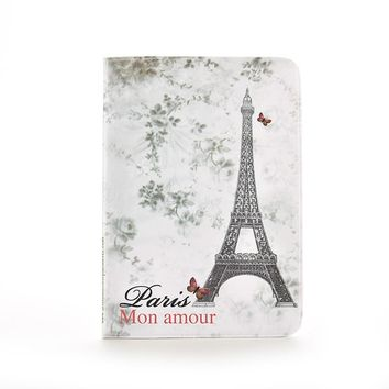 Paris Eiffel Tower Travel Passport Cover 3D Card Bag Porte Carte Simple PVC Leather Credit Card Holder & Note Holder