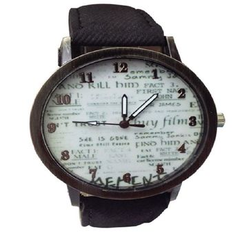 Men's  Cowboy Fabric Band Wrist Watch